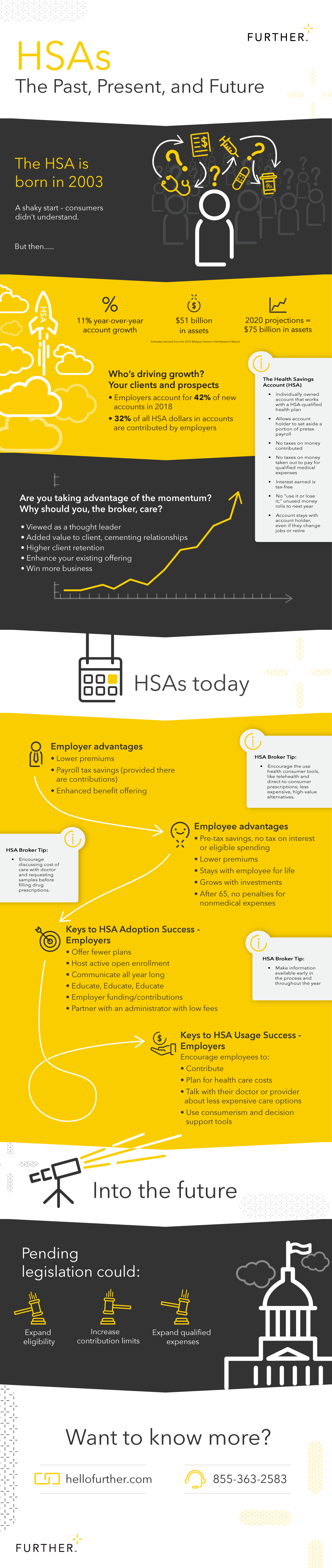 HSAs past present future infographic