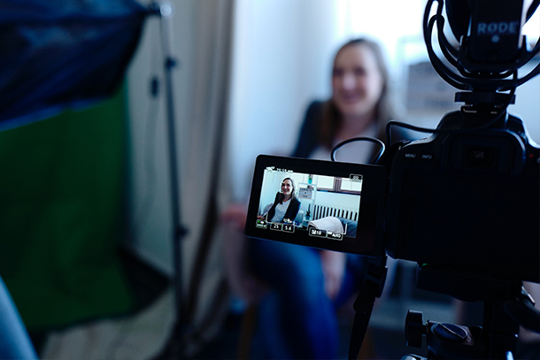 recording videos can be an effective open enrollment communication tool